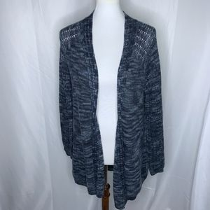 Relativity Blue Open Front Cardigan, Size Large
